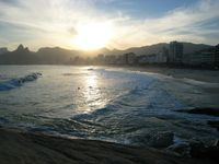 View af solnedgang over Ipanema