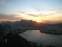 Solnedgang over Rio